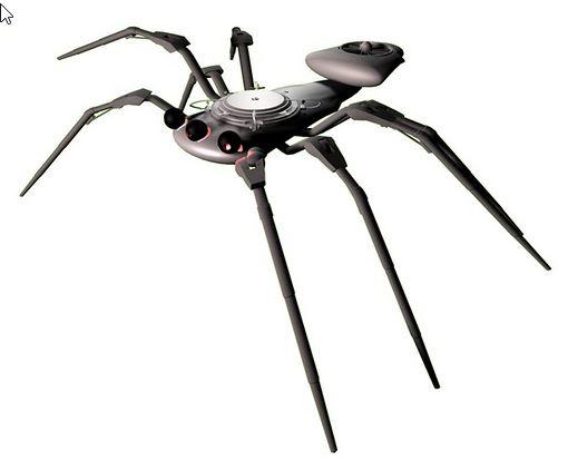 Robot militar BugBot spyder con forma araña construido por Bae Systems que se dedica a realizar misiones de espionaje, exploración y reconocimiento