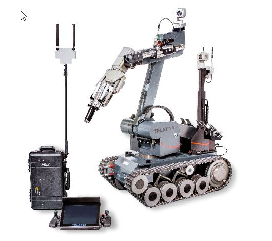 Robot militar tEODor EVO foto para desactivar bombas y explosivos