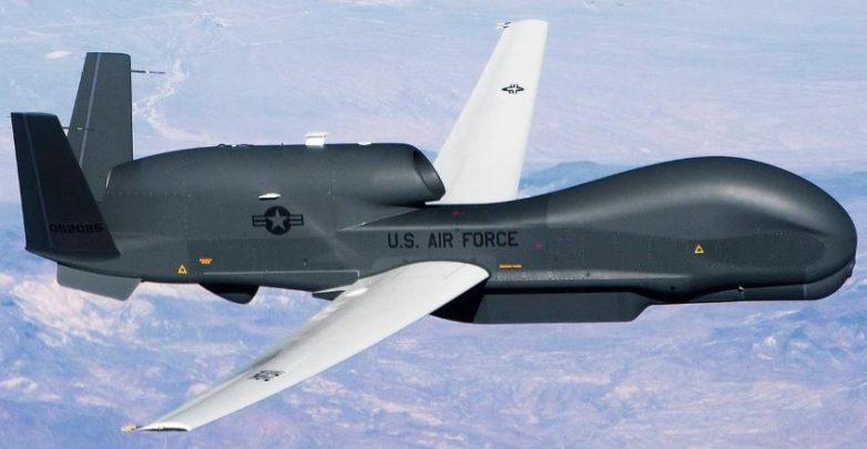 imagen del avión militar RQ-4 Global Hawk de Estados Unidos