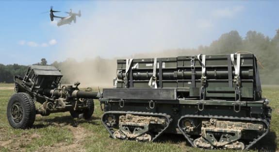 robot de combate para el abastecimiento de los soldados