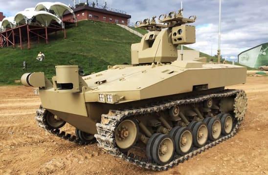 Sorátnik, el robot de combate del ejército ruso de 7 toneladas que lleva Inteligencia Artificial