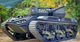 robot tanque Ripsaw M5 de los Estados Unidos es un robot militar para misiones de combate