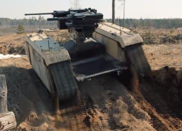 robot de combate Themis Adder fabricado por Milrem en Estonia